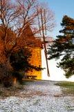 Vecchio mulino a vento in Provenza, Francia immagini stock libere da diritti