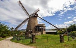 Vecchio mulino a vento (Sugar Mill) a Morgan Lewis, Barbados fotografie stock libere da diritti