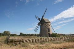 Vecchio mulino a vento in Visby Fotografia Stock