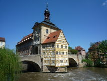 Vecchio municipio Bamberga Fotografia Stock