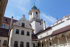 Vecchio municipio a Bratislava Fotografia Stock Libera da Diritti