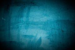 Vecchio muro di cemento blu scuro fotografia stock