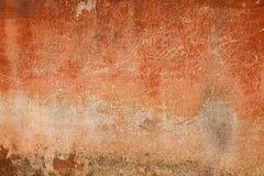 Vecchio muro di cemento rosso d'annata Immagini Stock