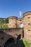 Vecchio muro di cinta in Buedingen Fotografia Stock Libera da Diritti