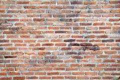 Vecchio muro di mattoni arancio con luce al fondo di mezzogiorno Fotografia Stock Libera da Diritti