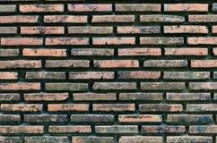 Vecchio muro di mattoni arrugginito per fondo Fotografia Stock