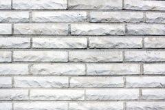 Vecchio muro di mattoni bianco fotografia stock