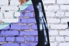 Vecchio muro di mattoni bianco sporco d'annata Immagine Stock