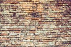 Vecchio muro di mattoni d'annata Fotografie Stock Libere da Diritti