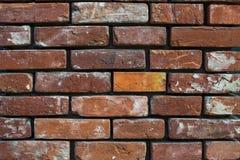 Vecchio muro di mattoni d'annata del fondo Immagine Stock