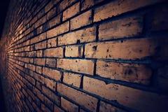 Vecchio muro di mattoni d'annata (stile scuro d'annata) Fotografia Stock