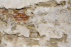 Vecchio muro di mattoni del grunge Immagini Stock Libere da Diritti