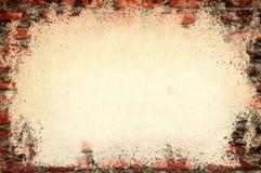 Vecchio muro di mattoni del vecchio coperchio di carta di struttura Immagine Stock Libera da Diritti