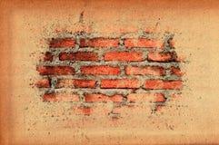 Vecchio muro di mattoni del vecchio coperchio di carta di struttura Fotografia Stock Libera da Diritti
