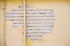 Vecchio muro di mattoni dello stucco Fotografie Stock