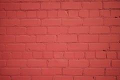Vecchio muro di mattoni di recente dipinto fotografia stock