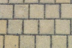 Vecchio muro di mattoni giallo Fotografia Stock Libera da Diritti