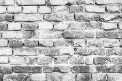 Vecchio muro di mattoni grigio Fotografia Stock