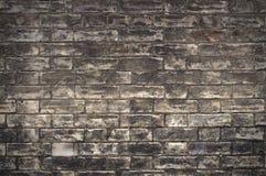 Vecchio muro di mattoni nero Fotografia Stock Libera da Diritti