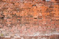 Vecchio muro di mattoni per priorità bassa Fotografie Stock Libere da Diritti