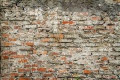 Vecchio muro di mattoni rosso Fotografia Stock