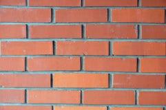 Vecchio muro di mattoni rosso Fotografie Stock Libere da Diritti
