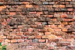 Vecchio muro di mattoni rosso-arancio 1 Fotografia Stock Libera da Diritti