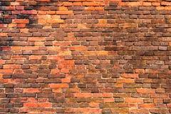 Vecchio muro di mattoni rosso-arancio 10 Immagini Stock