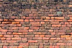 Vecchio muro di mattoni rosso-arancio 14 Fotografie Stock