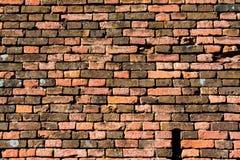 Vecchio muro di mattoni rosso-arancio, fondo, struttura 24 Fotografie Stock