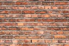 Vecchio muro di mattoni rosso come fondo Fotografia Stock Libera da Diritti