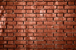 Vecchio muro di mattoni sporco rosso Immagine Stock Libera da Diritti