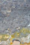 Vecchio muro di mattoni verniciato Fotografie Stock