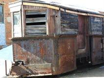 Vecchio museo all'aperto nell'inverno, Russia di Pereslavl della locomotiva a vapore fotografia stock libera da diritti