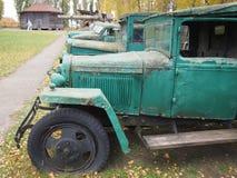 Vecchio museo raro dei camion all'aperto Immagini Stock Libere da Diritti