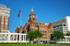 Vecchio museo rosso di Dallas County History & di cultura immagine stock libera da diritti