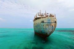 Vecchio naufragio della nave Fotografia Stock Libera da Diritti