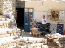 Vecchio negozio della città di Safed sul 2008 quadrato fotografie stock