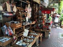 Vecchio negozio della via di Bangkok Fotografie Stock