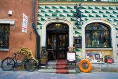 Vecchio negozio a Varsavia Immagine Stock