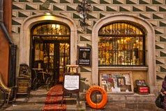 Vecchio negozio in Waraw Fotografie Stock Libere da Diritti