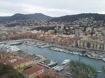 Vecchio Nizza porto Fotografie Stock