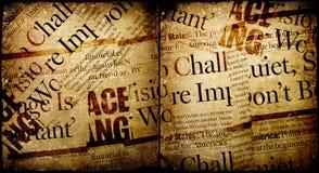 Vecchio nuovo documento Fotografie Stock Libere da Diritti