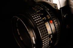 Vecchio obiettivo di macchina fotografica immagini stock libere da diritti