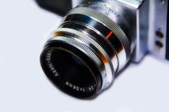 Vecchio obiettivo di macchina fotografica della foto Fotografie Stock
