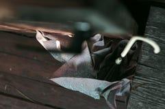 Vecchio ombrello tagliato Immagine Stock