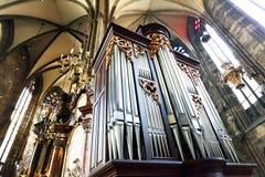 Vecchio organo Fotografia Stock Libera da Diritti