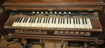 Vecchio organo Fotografie Stock Libere da Diritti