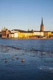 Vecchio orizzonte di Stoccolma Immagini Stock