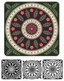 Vecchio ornamento europeo del medaglione di stile Fotografia Stock